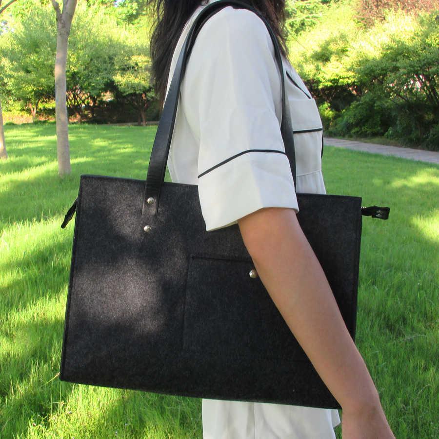 Взгляд фокус брендовые войлочные сумка Для женщин мода темно-серый Повседневная сумка Офисные женские туфли сумка Vilten TA дизайнер почувствовал Курьерские сумки