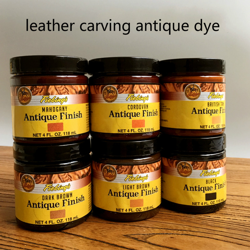 Import From America 10 Color 118ml Oily Creamy Dye, Antique Leather Carving Dye, Leather Oil Dye Cream