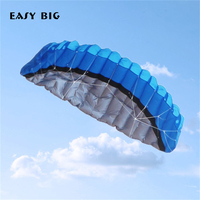 EASY BIG 250*80CM Colorful Kite Nylon Outdoor Kites Flying Toys For Children Kids Kite Surf With Control Bar and Line TH0047