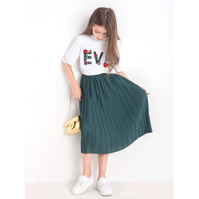 Teenage Garments for Teen Women Skirt Swimsuit Patchwork Shirt + Skirt 2pcs Spring Summer time Women Costume Youngsters Clothes Set for 4-14 Clothes Units, Low-cost Clothes Units, Teenage Garments...