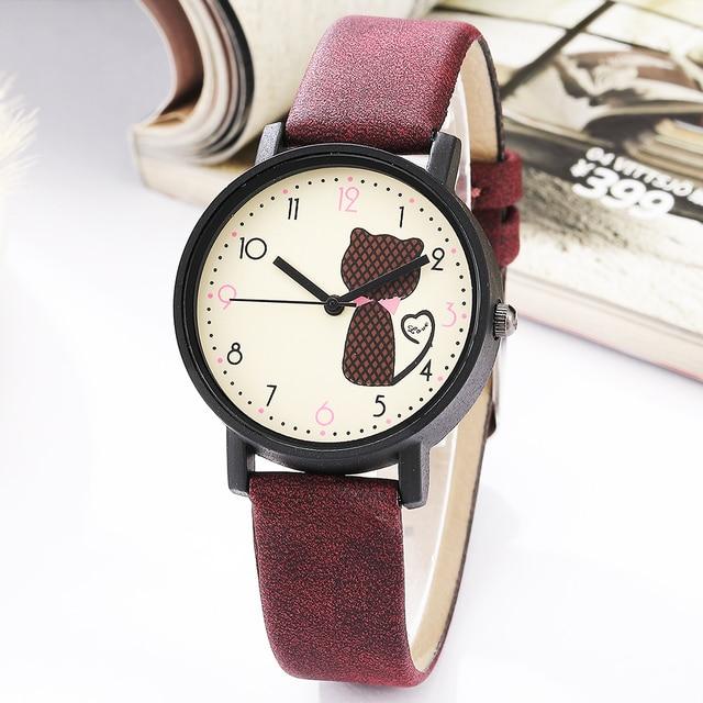 Matte Leather Wristwatch Women Classy Leather Ladies Wrist Watches Luxury Small