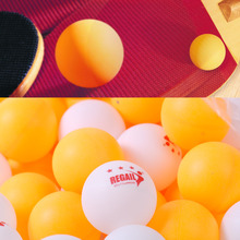 100pc New 3-Stars 40mm White/Orange Olympic Ping Pong Table Tennis Ball for Recreational Sports Part-time Entertainment Activity