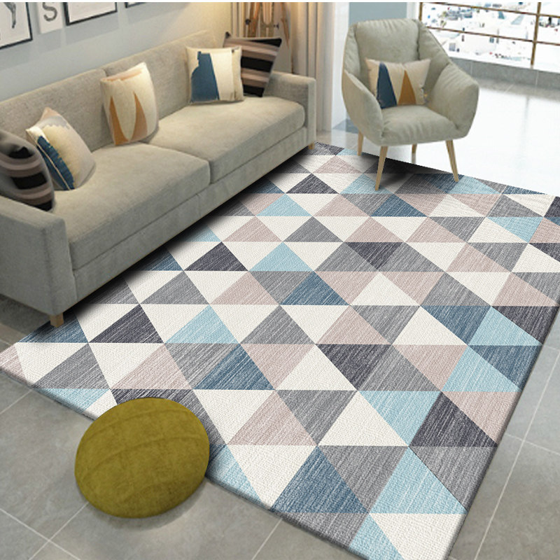 Nordic Geometric Carpets For Living Room Home Decor Carpet Bedroom Sofa Coffee Table Rug Study Room