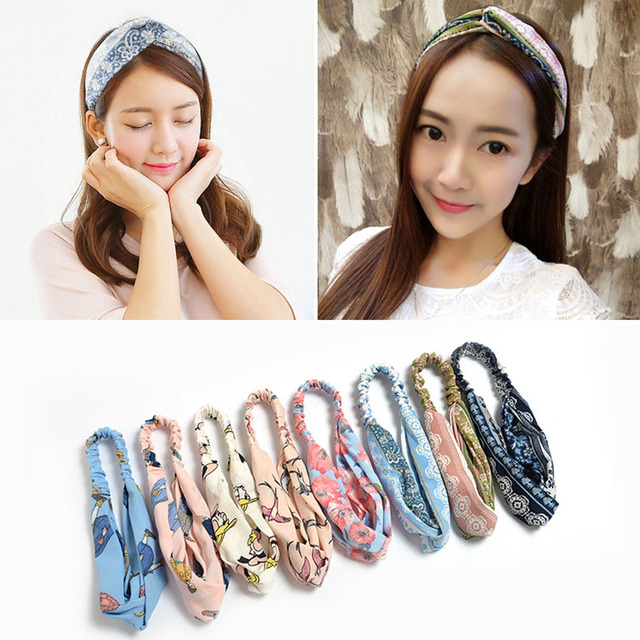 2018 New Headbands For Women Rubber Band Boho Ethnic Style turban Elastic  Hairband Lady Hair Accessories Holder Hair Bands 78565894fd1