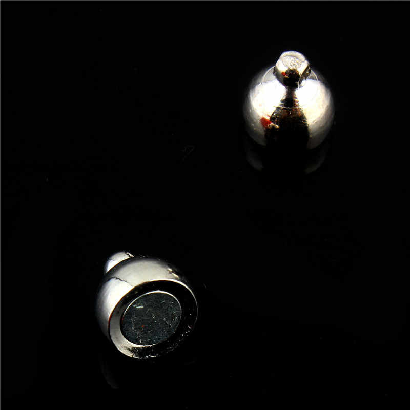 المشبك المغناطيسي الفضة والمجوهرات السحابة مغناطيس صغير عقد دي اي واي ربط 10sets