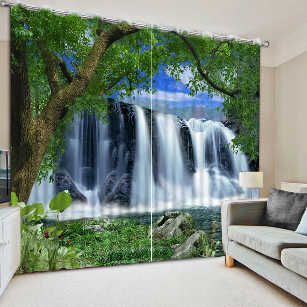 Luxury Blackout 3D Window Curtains For Living Room Bedroom  High quality custom 3d curtain fabric nature scenery 3d curtains Luxury Blackout 3D Window Curtains For Living Room Bedroom  High quality custom 3d curtain fabric nature scenery 3d curtains
