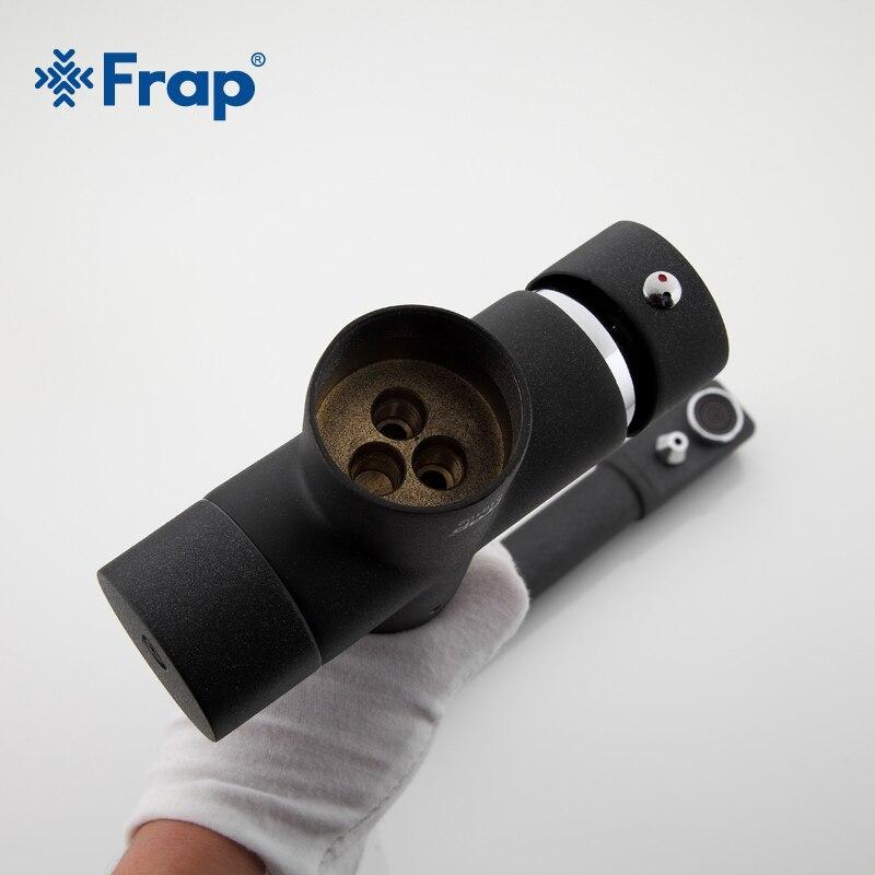 Frap новый черный смеситель для кухонной раковины с семью буквами, смеситель для холодной и горячей воды, кран для очистки воды с двойной ручк... - 2