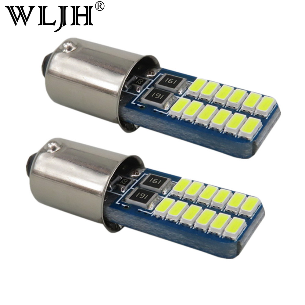 WLJH 6шт Белый льда синий canbus для штык о ba9s Н6ВТ СИД 12V 3014 чип авто из светодиодов лампы интерьер свет парковка лампы освещения