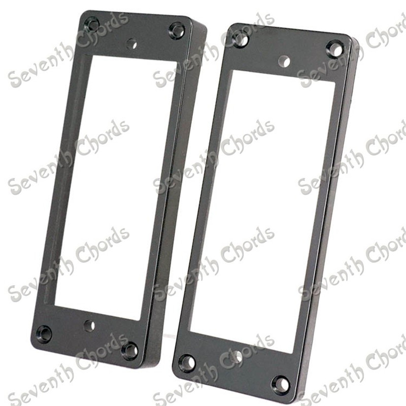 A Pair Black Plastic Curved Pickup Humbucker Ring Set For Electric Guitar Replacement Neck Ring and Bridge Ring
