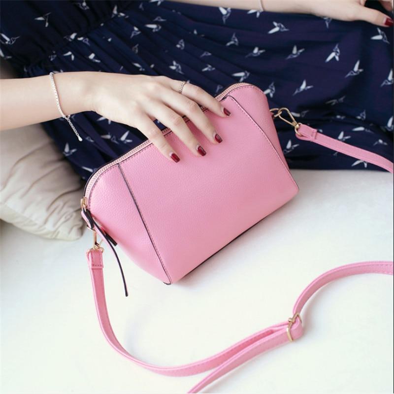 Trendy Japanese and Korean simple shell bag Fashion matches everything female bag small bag single shoulder Messenger bag 32