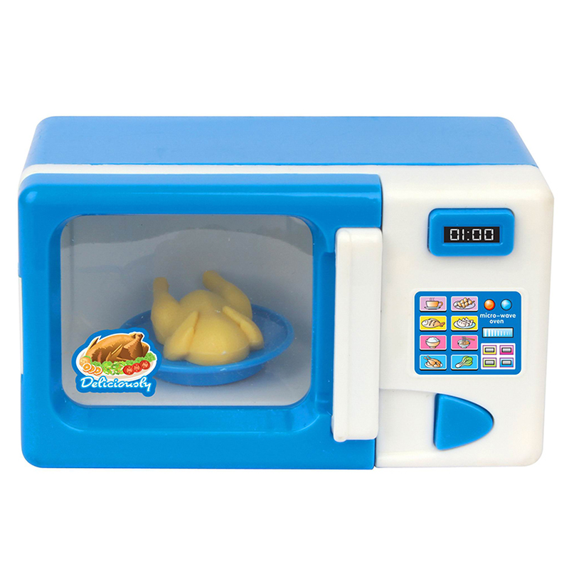Kid Mini Cute Microwave Oven Pretend Role Play Toy Educational For Children Role Playing Kitchen Toys