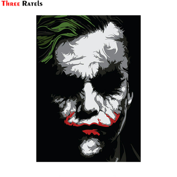 Three Ratels LCS484# 10x14cm joker why so serious car stickers funny car stickers styling removable decal rookie yearbook three stickers