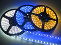 LED waterproof 5 m SMD3528 60 PCS/per meter Warm white  white  Red, green and blue free shipping