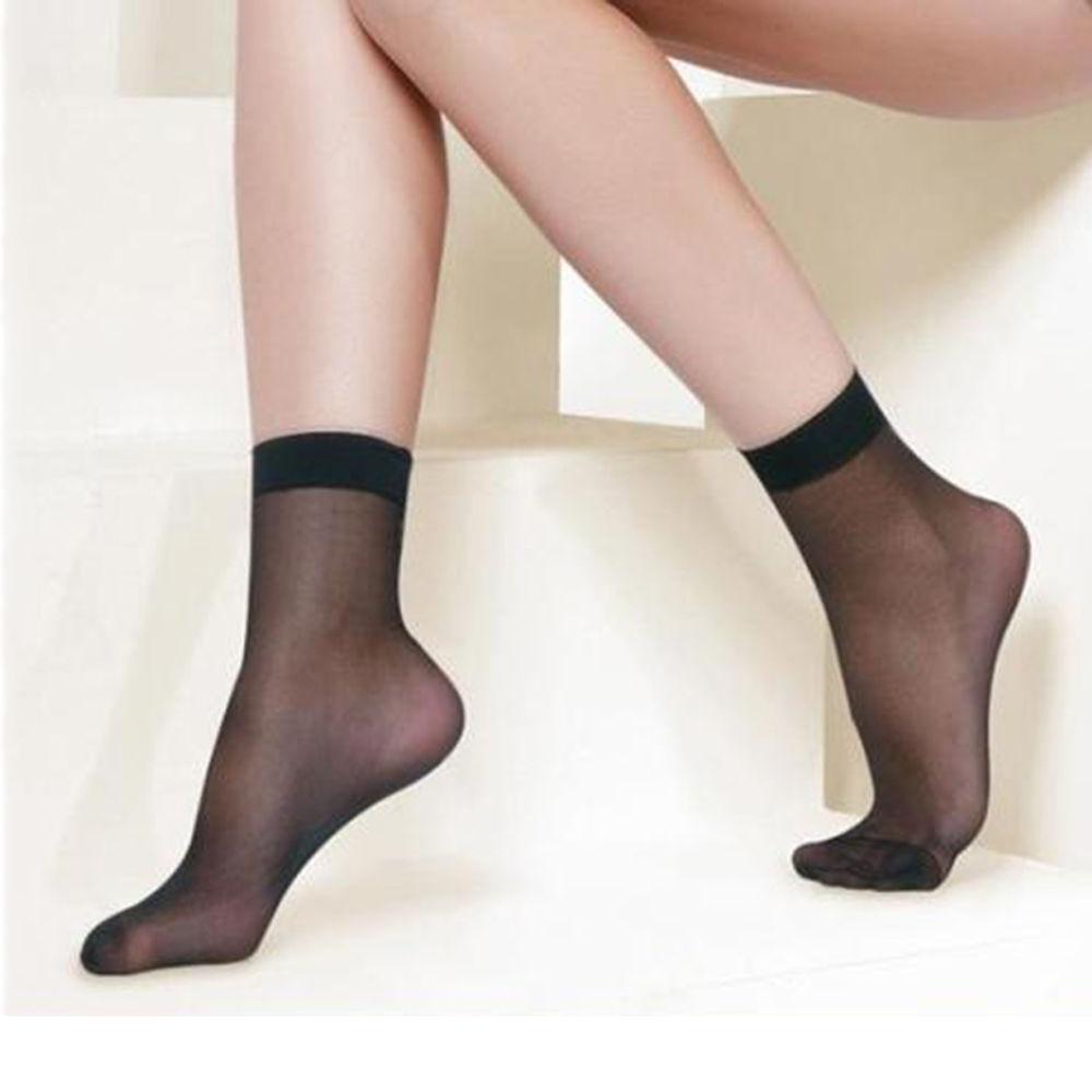 10 pairs/lot Summer sexy ultrathin transparent crystal silk   socks   for women high elastic black nylon short   socks   female   socks