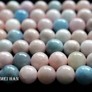 Image 1 - Meihan großhandel (32 perlen/set) 12mm natürliche beryll glatte runde lose perlen für schmuck DIY machen halskette