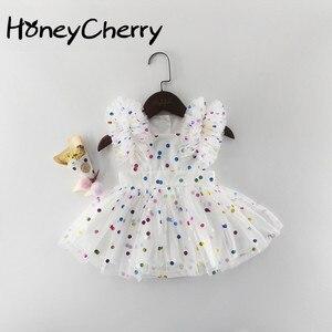 Image 1 - ฤดูร้อนเด็กสีชมพูBodysuitเสื้อผ้าเด็กHot Stampedหน้าจอเส้นด้ายผ้าฝ้ายสามเหลี่ยมHairdressเด็กBodysuits
