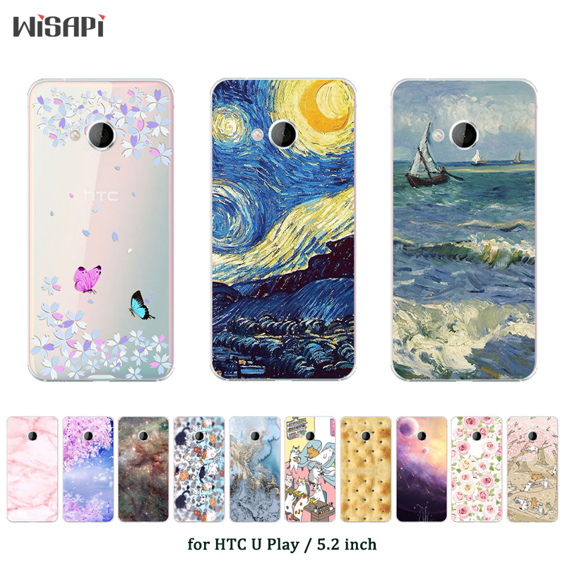 Case For HTC U Play Soft Silicone Phone Case Cover For HTC U Play Fashion Printed TPU for HTC UPlay Alpine Protective Capa