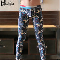New Mr Men's Best Pants High Quality Underwears Fashion Sexy Warm Pants Cotton Slim National Wind Printing Thin Male Long Johns