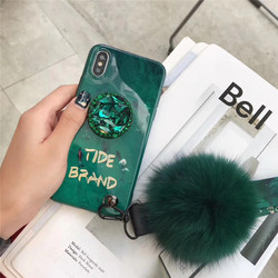 Silicone Cases For iPhone 8 Plus 6 6s 7 Plus Cover For Case iPhone X XS Max XR 6 6S 7 8 Shockproof Bumper Rhinestone Holder Tide 4