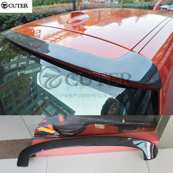 F20 1 Series Carbon Fiber Rear spoiler Roof wings top wings for BMW F20 116i 118i 1 Series body kit 2012-UP image