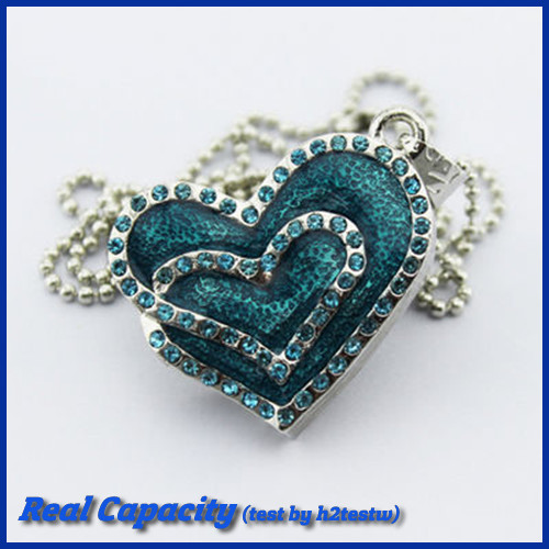 cute thumb drive pendrive flower jewelry usb flash drive crystal pen drive shiny heart usb stick bluelover 4gb 8gb 16gb 32gb