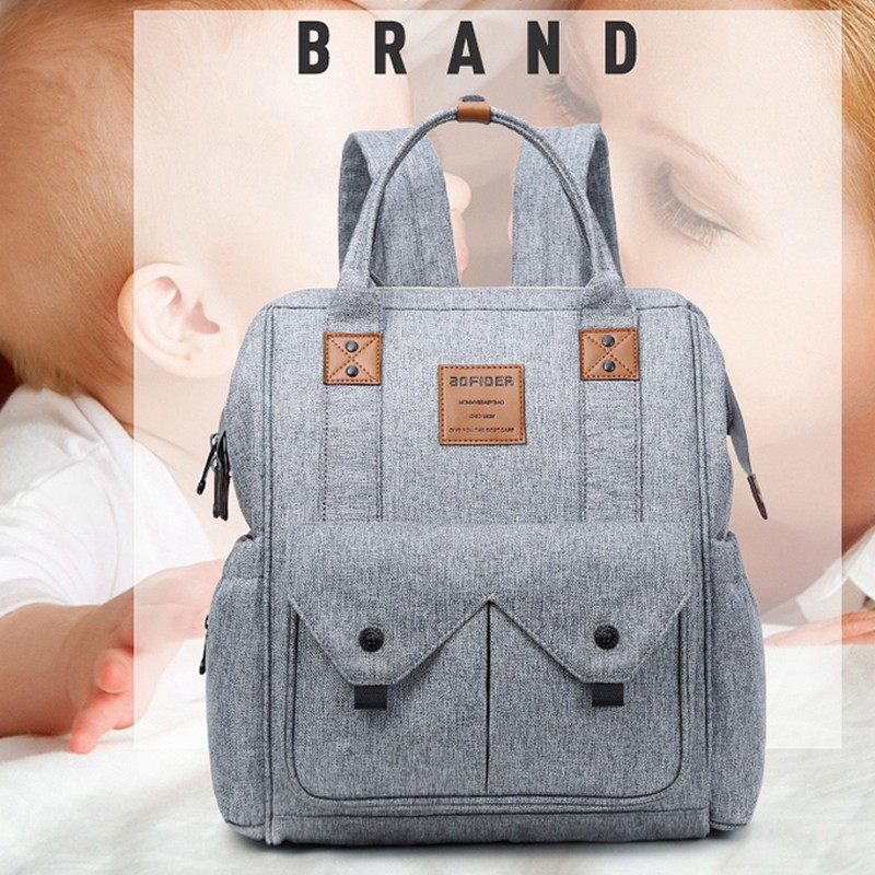 2018 Mummy Maternity Nappy Backpack Large Capacity Mom Baby Diaper Backpack Bag Waterproof Maternity Mummy Bag for Baby Care
