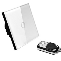 VHOME SMART HOME 1Button1way Smart Remote Control Toughened Glass Light 433mhz Remote Control BY Broadlink Home