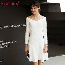 Платье yigelila женское ТРАПЕЦИЕВИДНОЕ однотонное приталенное
