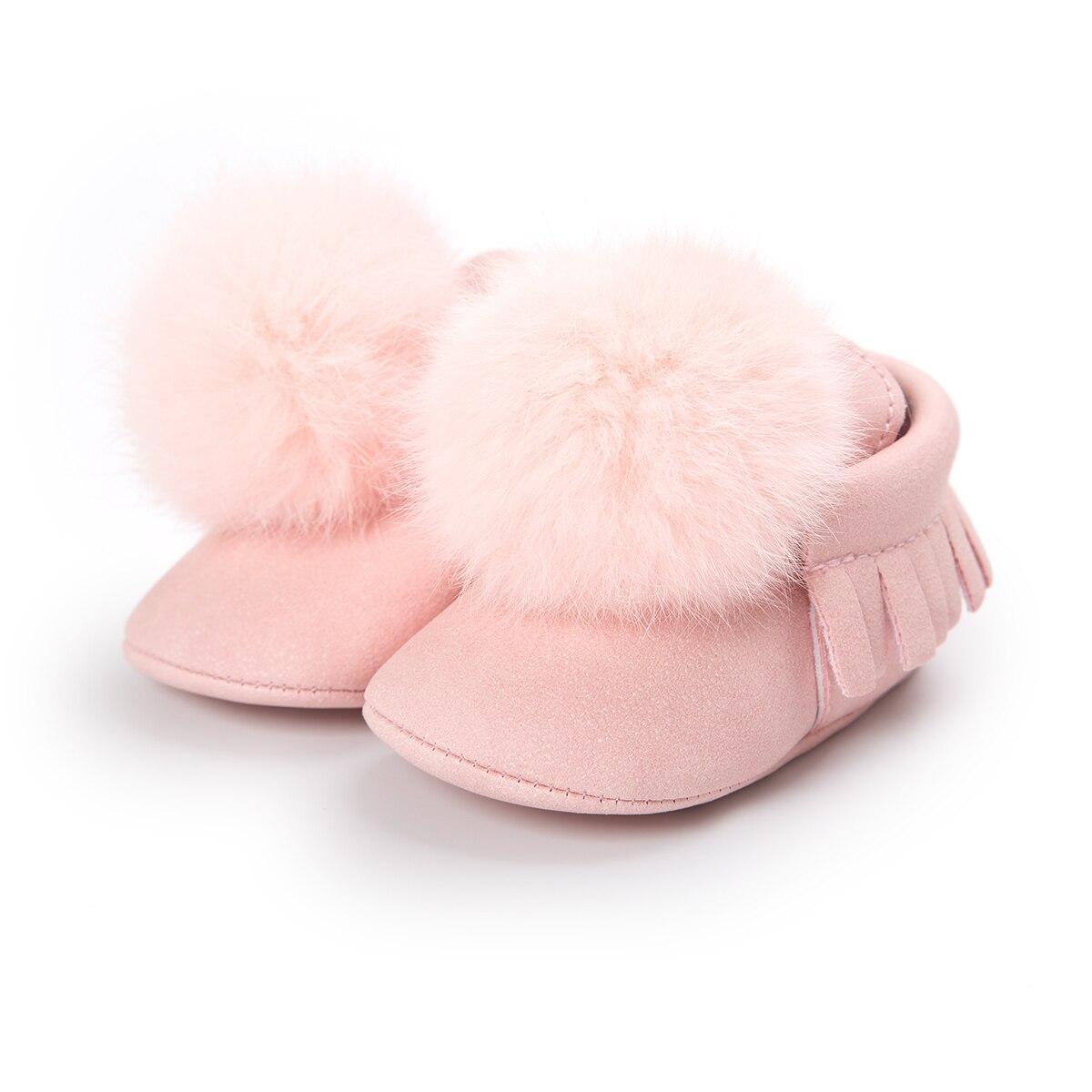 Fashion Baby Boots Newborn Baby Toddler Boys Girls Snow Boots Winter Warm Soft Cotton Fur Crib Shoes Prewalker