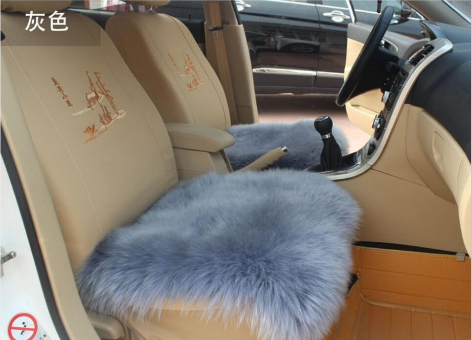 1 шт. овчины сиденье автомобиля охватывает 45*45 см универсальные подушки сиденья зима уютный мягкий сиденье автомобиля Меховой чехол протект...