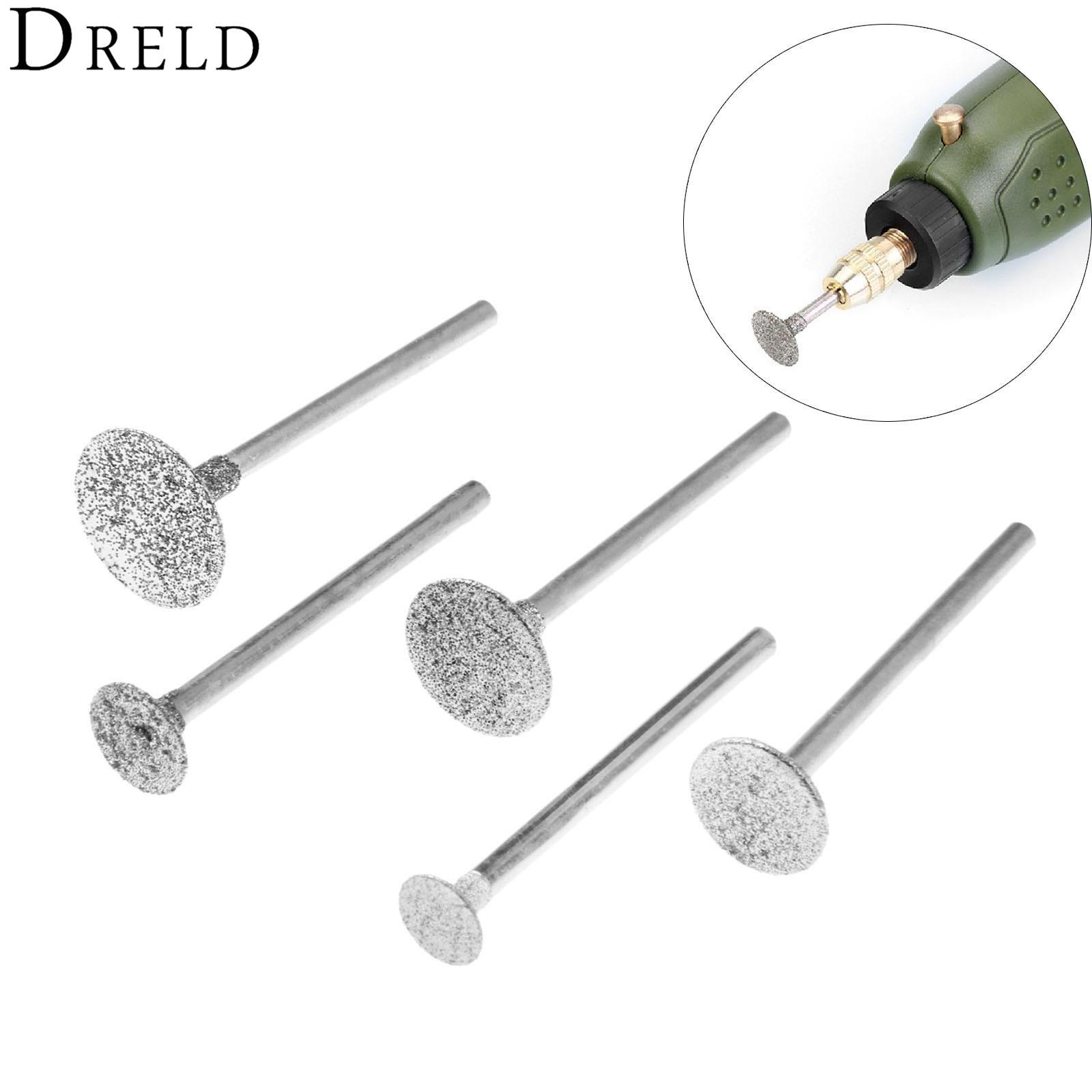 DRELD 5Pcs 3mm Shank Carborundum Electric Polishing Grinding Head Buffing Polishing Wheel For Dremel Rotary Tools
