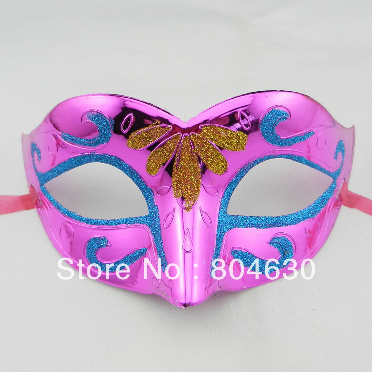 fashion party mask venetian masquerade supply halloween costume carnival mardi gras prop half face plastic EMS free - Caly Tao's store