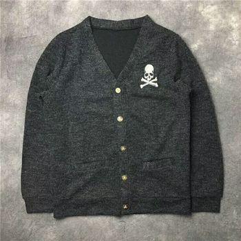 High Quality Woolen sweater Skull Print S-XXL
