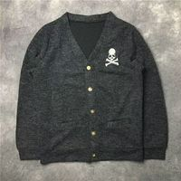 2019SS NEW 1:1 High Quality Mastermind Japan MEN WOMEN Woolen sweater hip hop MMJ Skeleton Skateboard sweater Black green S XXL
