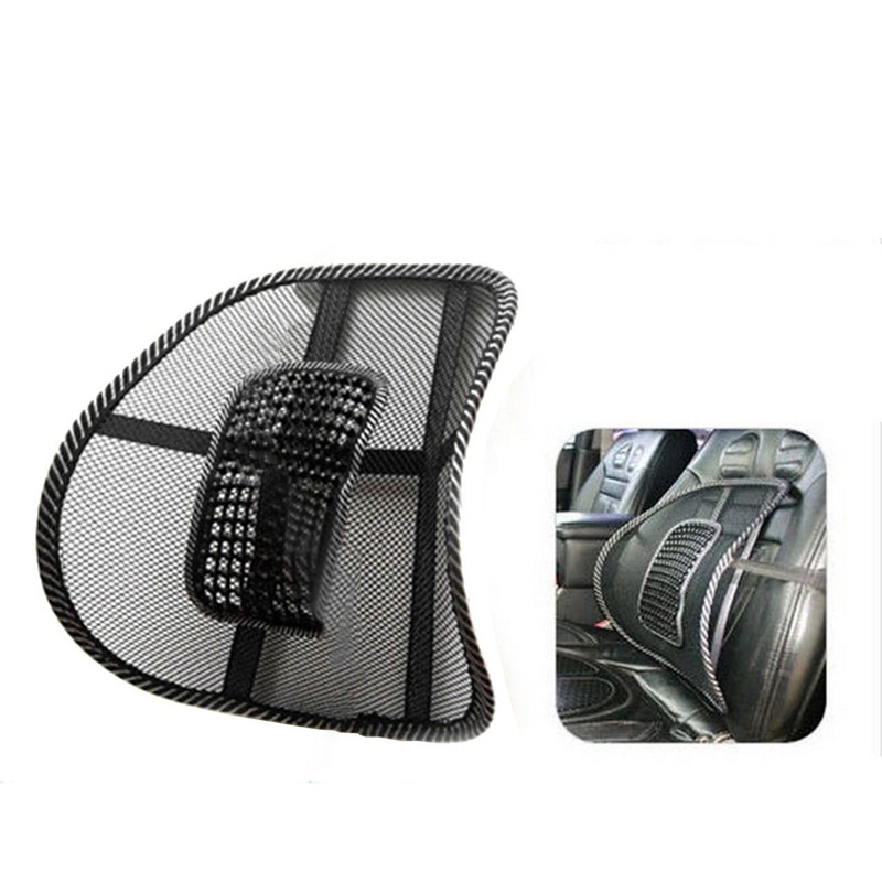 Car Seat Lumbar Support Back Massage Cushion Mesh Relief 40 x 40cm Mesh Fabric Auto Back Support Chair Interior Accessories in Seat Supports from Automobiles Motorcycles