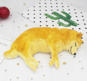 Милая силиконовая форма для торта с изображением собаки спящей акиты Шиба ину, форма для украшения торта, форма для выпечки