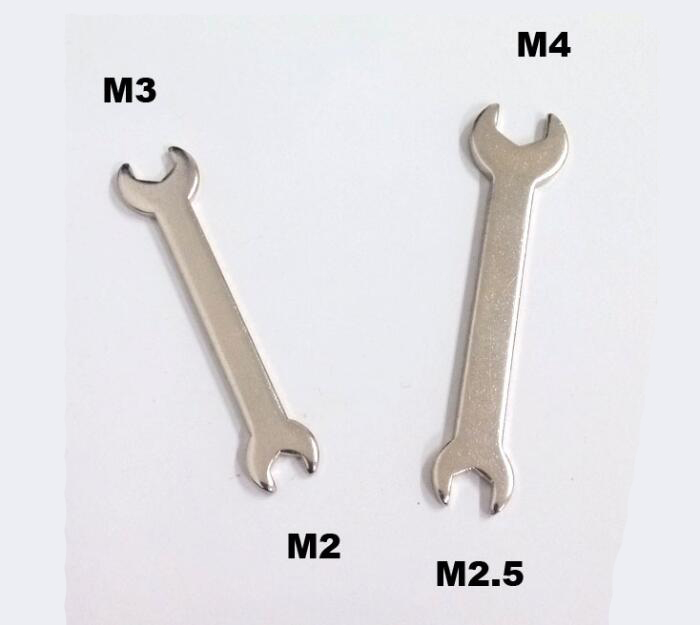 Free Shipping Small Hexagon Nuts Wrench for M3 M2 M4 M2.5 nuts Tool spanner professional bike repairing inner hexagon spanner wrench black 2 2 5 3 4 5 6mm