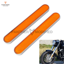 Orange Motorcycle Front Fork Leg Reflectors Shock Reflective Case for Harley Davidson Softail Dyna Fatboy Sportster XL 883 1200