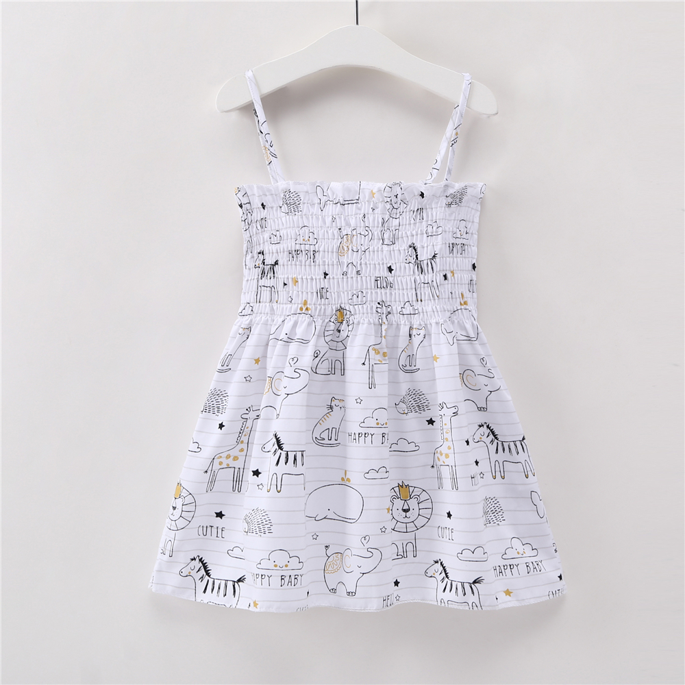 HTB1mMNvjyMnBKNjSZFzq6A qVXaC Kids Dresses for Girls Summer Girl Sleeveless Dress Toddler Flower Print Princess Dress 1 2 3 4 5 6 7 Years Children's Clothing