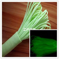Luminous Light Green Paracord 550 Parachute Cord Lanyard Rope Mil Spec 9Strand Climbing Camping Survival Equipment