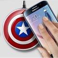 Капитан Америка Ци Wirless зарядки Площадку Зарядки Быстрый Телефон Зарядное Устройство для Samsung Galaxy S6 Edge Edge Galaxy S7 Ци Включить