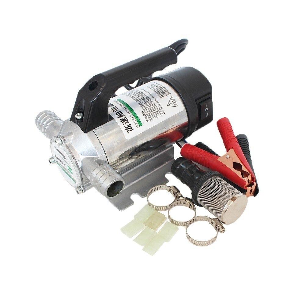 50L/min 12 V/24 V/220 V pompe de transfert de carburant automatique électrique pour le pompage de l'huile/Diesel/kérosène/eau, petite pompe de ravitaillement automatique 12 V