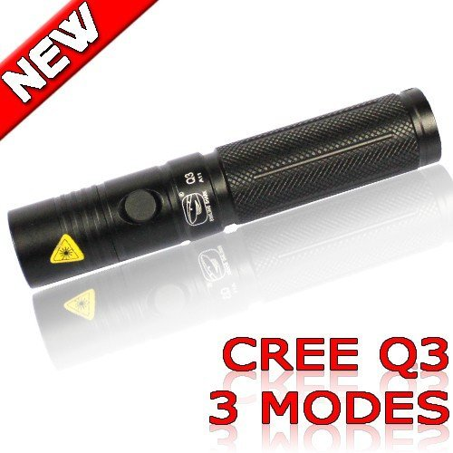 Aluminium Alloy CREE Q3 Lamp 3 mode LED Flashlight 120 Lumens Waterproof for sporting Camping Lights outdoor handy Torch A11