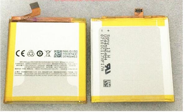 Para Meizu M2 mini BT43C Nova 2450 mAh Substituição de backup Bateria Batterij Bateria Para Meizu M2 de mini Telemóvel