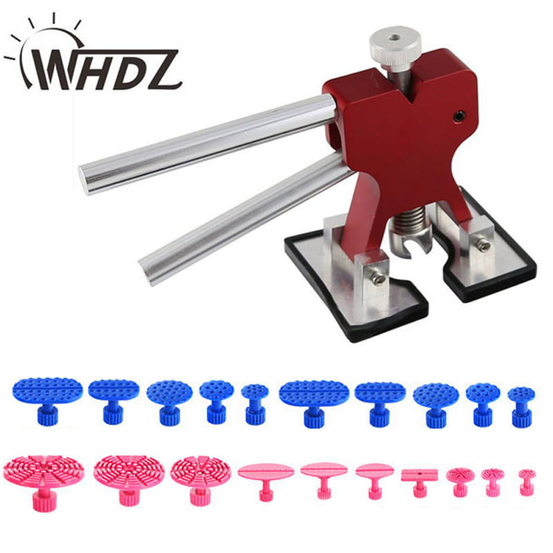 WHDZ PDR Tools Kit Dent Removal Paintless Dent Repair Tools Red Dent Lifter Puller Glue Tabs  whdz 64pcs pdr tool dent lifter paintless dent hail removal repair tools glue pdr tool kit pdr pro tabs tap down line board