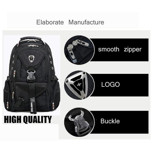 Swiss Multifunctional Travel laptop Backpack Men SchoolBags Students Business Rucksack 17 inch Computer bagpack waterproof 3