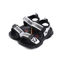 2019 summer new sandals in the big children's sandals soft bottom wear-resistant superfine fiber leather beach shoes