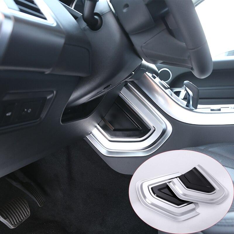2Pcs/set ABS Chrome Contral U Shape Panel Cover Trim For Land Rover Range Rover Sport 2014-2017 Car Accessories silver black side fender sticker for land rover range rover evoque 2011 2016 abs chrome car accessories
