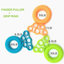 2Pcs/set Hand Gripper Grip Silicone Ring Hand Resistance Band Finger Stretcher-E