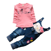 BibiCola Baby Girl Clothing Sets Fashion Spring Autumn Girls Carton Clothings Kids Clothing Sets T Shirt